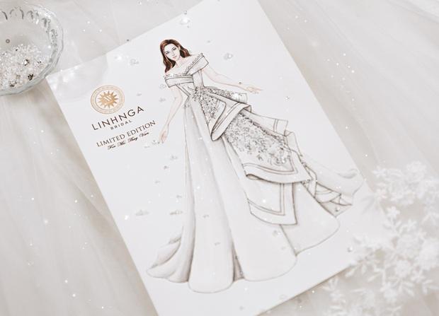 Chẳng sương sa hột lựu, váy cưới của Thúy Vân tinh giản mà vẫn đặc biệt: Bộ lấy cảm hứng từ tên cô dâu, bộ giấu bụng bầu cực sang - Ảnh 5.