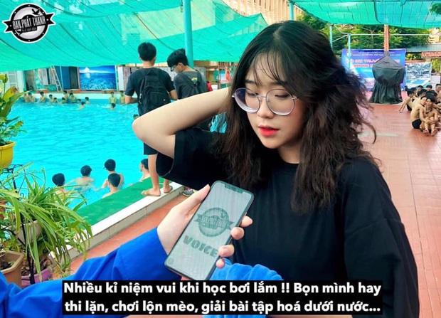 Nữ sinh 2K4 trả lời siêu mặn khi được phỏng vấn lúc học bơi, bật mí nhiều thành tựu đáng nể từ năm lớp 7 - Ảnh 1.