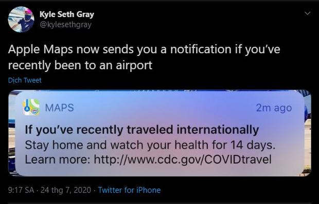 Apple cập nhật tính năng cảnh báo người dùng tự cách ly khi đi qua sân bay - Ảnh 2.