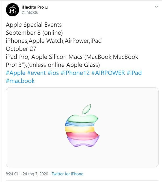 Hacker tiết lộ iPhone 12 sẽ được ra mắt vào đầu tháng 9 - Ảnh 1.