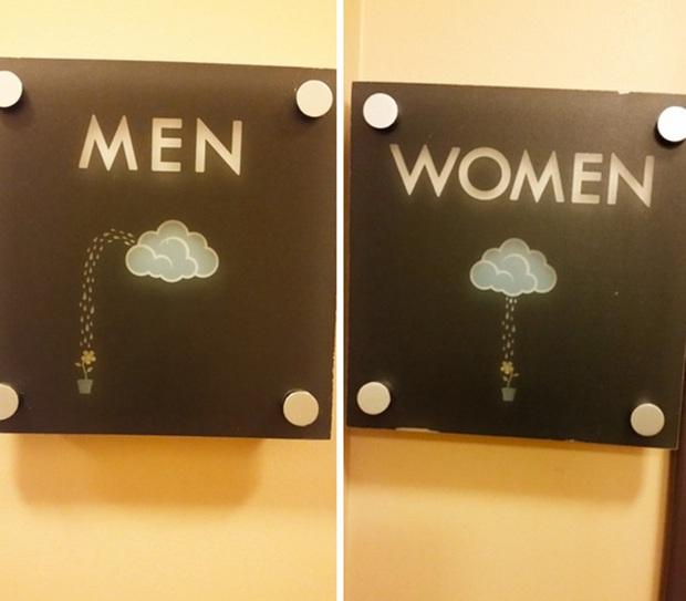 Những tấm biển chỉ dẫn nhà vệ sinh hài hước và độc đáo khiến ai cũng phải công nhận sức sáng tạo của con người thật không có giới hạn - Ảnh 8.