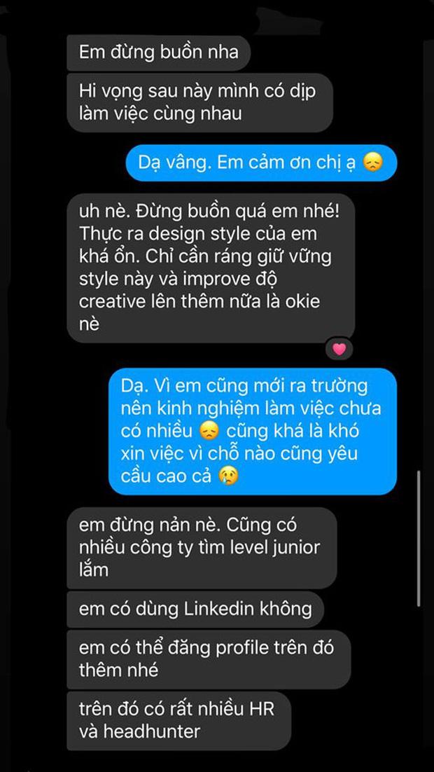 Đi xin việc nhưng bị từ chối vì chưa đủ kinh nghiệm, gái xinh nhận được tin nhắn siêu ngọt tim từ nhà tuyển dụng - Ảnh 1.