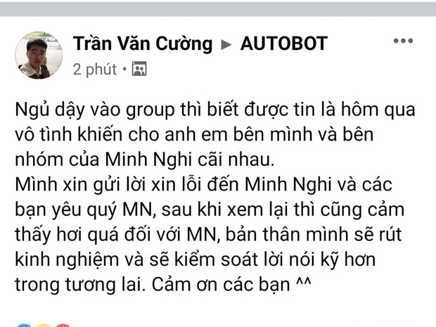 Sau ồn ào, Optimus chính thức gửi lời xin lỗi nữ MC Minh Nghi - Ảnh 1.