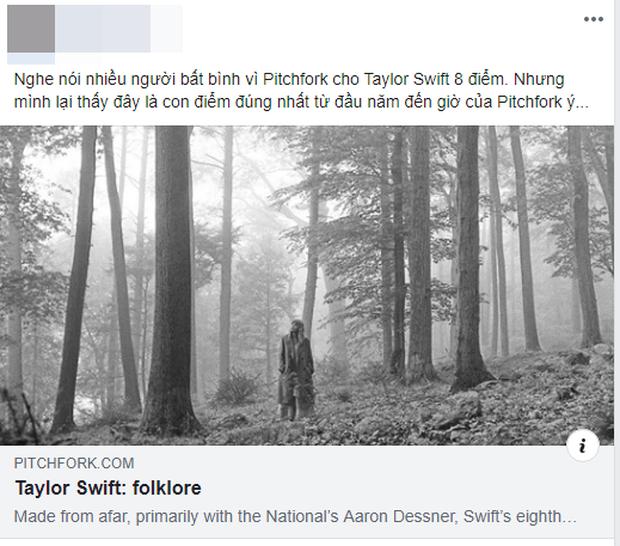 Pitchfork cuối cùng đã chấm điểm folklore của Taylor Swift: người cho rằng vẫn thấp, kẻ đánh giá vậy là xứng đáng rồi? - Ảnh 7.