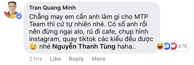 MC Quang Minh vào tận status của Sơn Tùng, lầy lội xin chân quay Tiktok, chụp ảnh Instagram cho idol  - Ảnh 2.