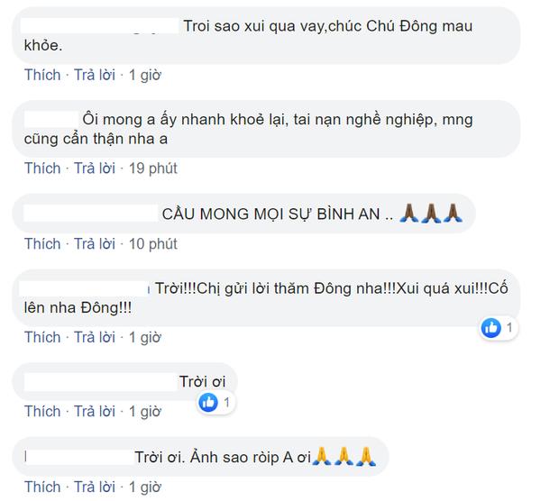 Diễn viên Huỳnh Đông gặp tai nạn, xương ống tay gãy đôi vì ghi hình phim mới - Ảnh 6.