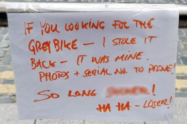 Chủ cũ chôm lại chiếc xe đạp đã mất, để lại lời nhắn dằn mặt khiến dân mạng không biết phân xử đúng sai như thế nào - Ảnh 1.