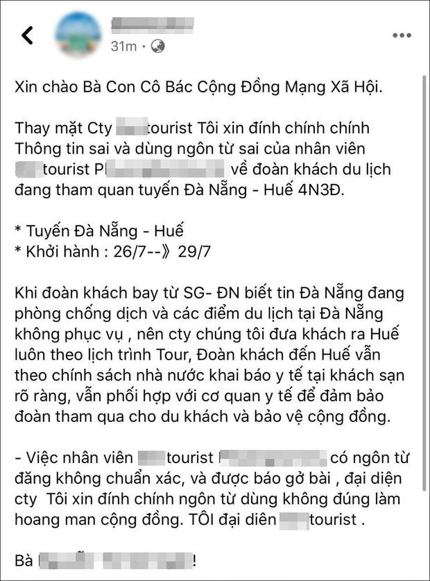 Hướng dẫn viên du lịch nhận loạt chỉ trích sau phát ngôn đưa đoàn khách tẩu thoát khỏi Đà Nẵng một cách an toàn - Ảnh 2.