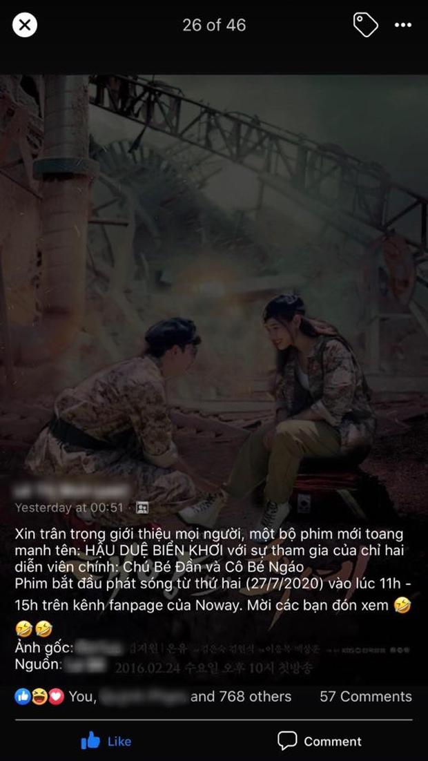 Nhìn Cara - NoWay tình tứ theo phong cách Hậu Duệ Mặt Trời, fan chế cả poster cạnh tranh Song - Song couple - Ảnh 5.