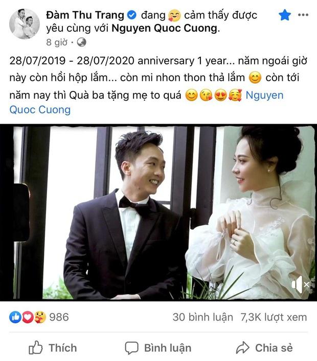 Kỷ niệm 1 năm ngày cưới, Đàm Thu Trang tiết lộ Cường Đô La tặng quà khủng nhưng không phải nhà lầu xe hơi - Ảnh 2.