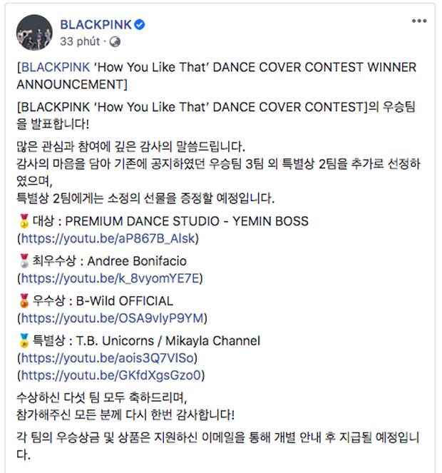 Góc ấn tượng: YG công bố nhóm nhảy Việt Nam xuất sắc rinh giải 3 cuộc thi dance cover How You Like That của BLACKPINK - Ảnh 1.