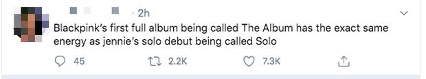 Công ty nào nghèo tên bằng YG: Bài hát solo của Jennie đặt là SOLO, full album đầu tiên của BLACKPINK là THE ALBUM nghe mà tức! - Ảnh 5.