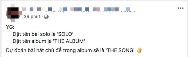 Công ty nào nghèo tên bằng YG: Bài hát solo của Jennie đặt là SOLO, full album đầu tiên của BLACKPINK là THE ALBUM nghe mà tức! - Ảnh 11.
