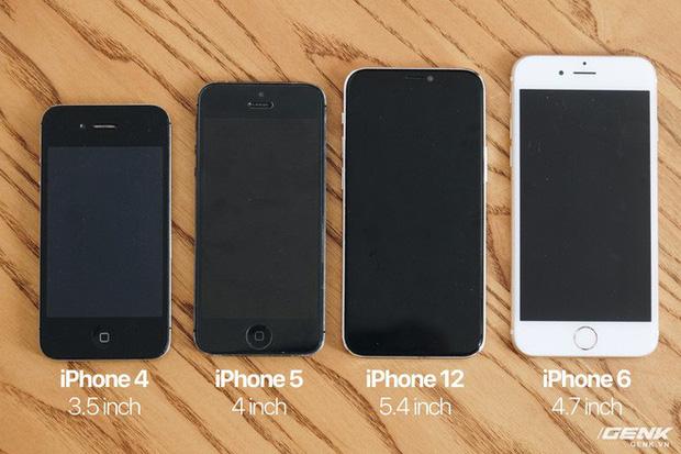 So sánh iPhone 12 5,4 inch với iPhone 4, iPhone 5 và iPhone 6: Chiếc iPhone nhỏ gọn đáng để chờ đợi - Ảnh 2.