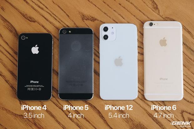 So sánh iPhone 12 5,4 inch với iPhone 4, iPhone 5 và iPhone 6: Chiếc iPhone nhỏ gọn đáng để chờ đợi - Ảnh 3.