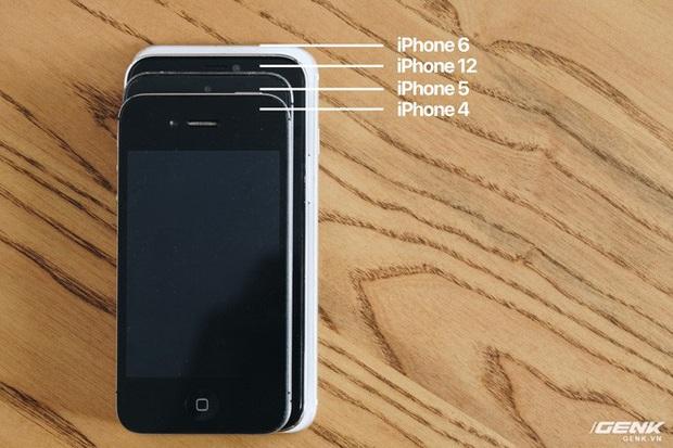 So sánh iPhone 12 5,4 inch với iPhone 4, iPhone 5 và iPhone 6: Chiếc iPhone nhỏ gọn đáng để chờ đợi - Ảnh 4.