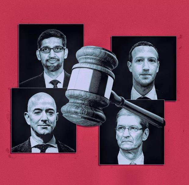 Khó tin, 4 CEO của các ông lớn Amazon, Apple, Facebook và Google phải dắt tay nhau đi điều trần trước Quốc hội Mỹ - Ảnh 1.