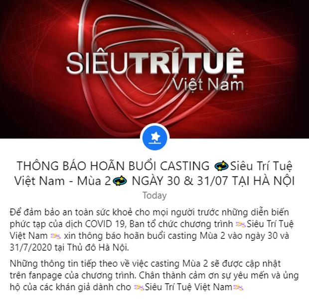 Siêu trí tuệ mùa 2 hoãn lịch tuyển sinh ở Hà Nội do diễn biến phức tạp của dịch Covid-19 - Ảnh 3.