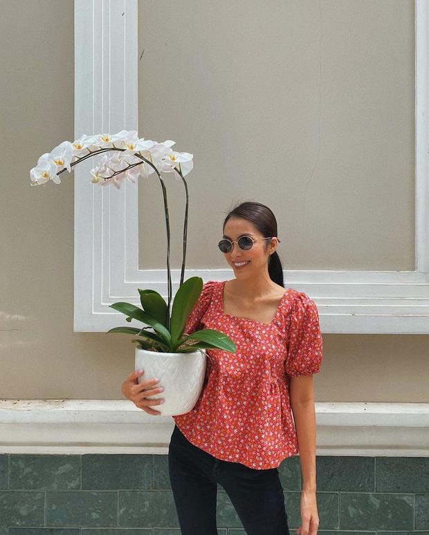 Hà Tăng diện đồ hoa ngày một sang xịn và trang nhã chứ không chóe như xưa, ra là có bí kíp hết - Ảnh 5.