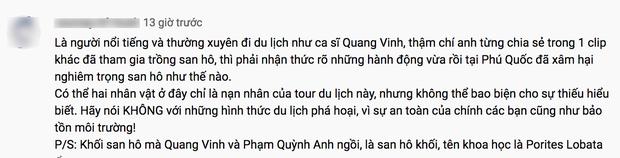 """Quang Vinh bị chỉ trích là """"phá hoại"""" vì ngồi lên rặng san hô để quay clip du lịch ở Phú Quốc - Ảnh 6."""