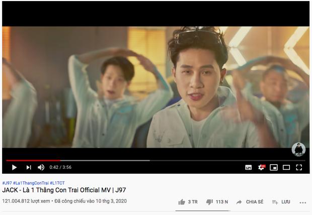 Là 1 Thằng Con Trai cán mốc 3 triệu like, Jack soán ngôi chính mình ở Top MV nhiều like nhất lịch sử Vpop nhưng vẫn thua Sơn Tùng M-TP - Ảnh 2.