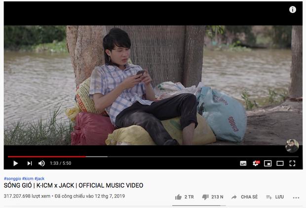 Là 1 Thằng Con Trai cán mốc 3 triệu like, Jack soán ngôi chính mình ở Top MV nhiều like nhất lịch sử Vpop nhưng vẫn thua Sơn Tùng M-TP - Ảnh 5.