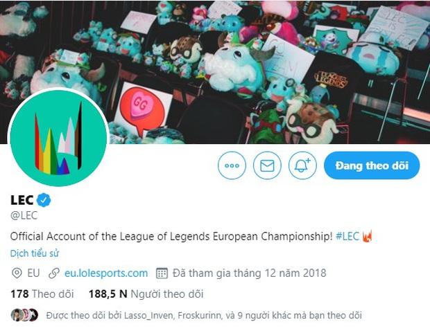 Giải vô địch LMHT châu Âu (LEC) hủy hợp đồng với đối tác vì nhận quá nhiều gạch đá từ cộng đồng LGBT - Ảnh 2.