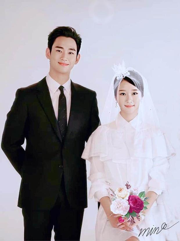 Điên Thì Có Sao tung ảnh gia đình Kim Soo Hyun nhưng fan lại chăm chăm thay váy cưới giúp Seo Ye Ji - Ảnh 5.