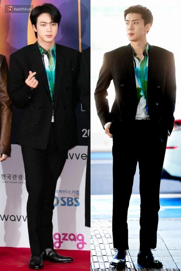 Khi những mỹ nam EXO, BTS đụng hàng: Ai cũng bảnh bao nhưng người như nam thần thanh xuân, người giống tổng tài bá đạo - Ảnh 4.