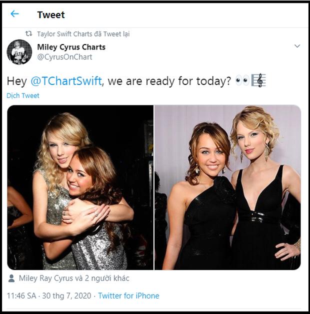 Quan hệ rộng như fan Taylor Swift: Rủ fandom hội chị em từ Billie Eilish, Miley Cyrus đến BLACKPINK để giúp stream nhạc lên #1 Billboard! - Ảnh 3.