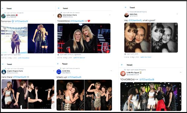 Quan hệ rộng như fan Taylor Swift: Rủ fandom hội chị em từ Billie Eilish, Miley Cyrus đến BLACKPINK để giúp stream nhạc lên #1 Billboard! - Ảnh 2.