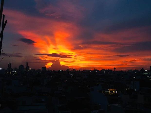 Dân mạng rần rần chia sẻ bầu trời hoàng hôn ở Sài Gòn có hình ảnh tuyệt đẹp giống như phượng hoàng - Ảnh 2.