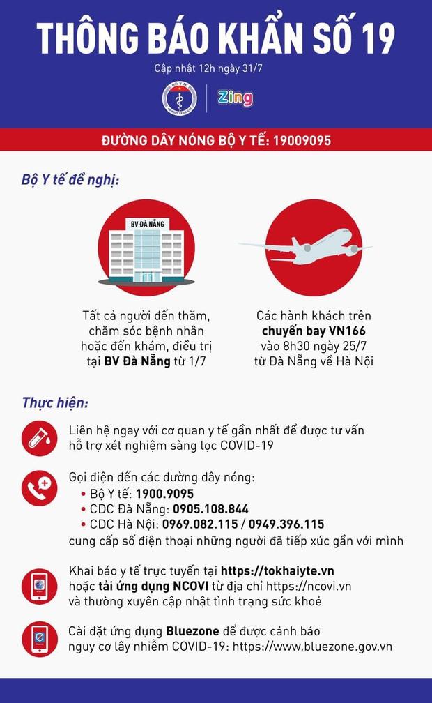 Khẩn: Những người đến BV Đà Nẵng từ 1/7, hành khách đi chuyến bay VN166 ngày 25/7 liên hệ ngay cơ sở y tế - Ảnh 1.