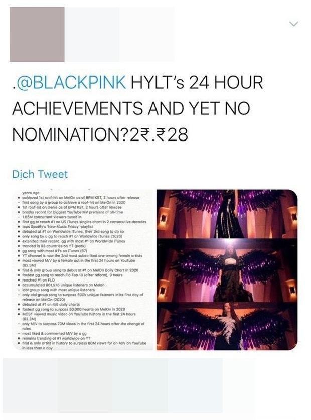 BLACKPINK không được đề cử Best Kpop tại VMAs 2020: lập luận MV How You Like That ra mắt trễ deadline liệu có hợp lý? - Ảnh 8.