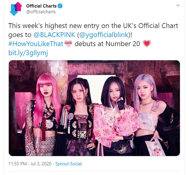 How You Like That của BLACKPINK debut ấn tượng tại BXH của Vương quốc Anh, nhưng so với BTS thì vẫn còn non và xanh lắm! - Ảnh 1.