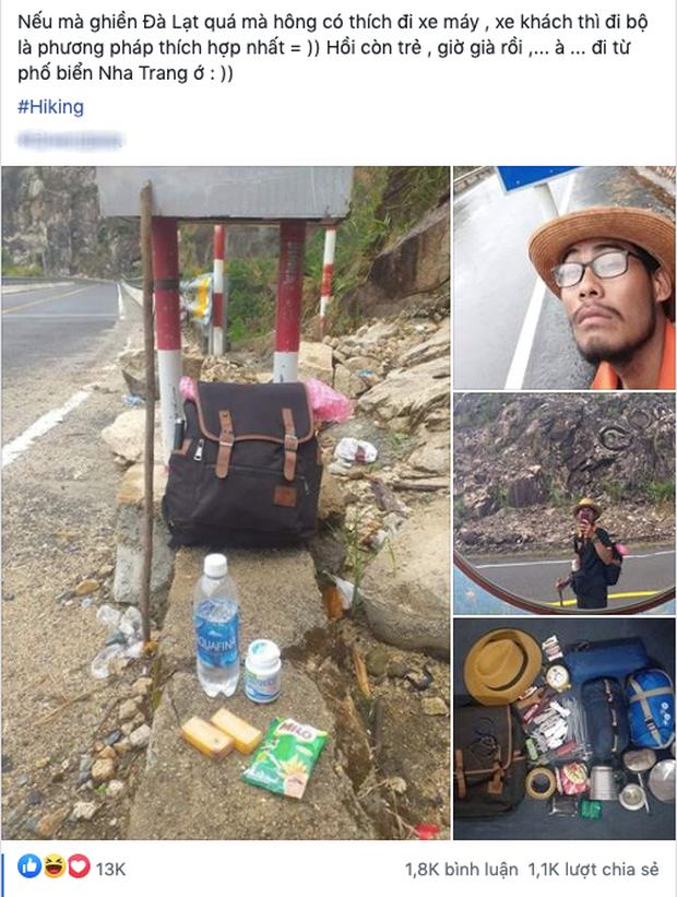 """Thanh niên gây sốc khi đi bộ từ Nha Trang đến Đà Lạt trong 4 ngày, bị nhiều người cho là """"điên rồ"""" nhưng vì crush mà bất chấp - Ảnh 1."""