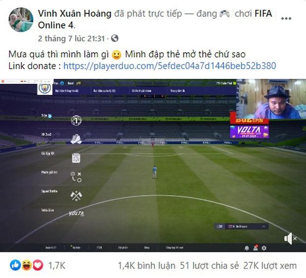 Vinh Râu FAPTV bất ngờ lấn sân làm streamer FIFA Online 4, ngay buổi đầu đã lộc lá mở cầu thủ chục tỷ! - Ảnh 3.