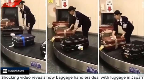 Làm ăn có tâm như nhân viên sân bay Nhật Bản, cẩn thận lau từng vali trên băng chuyền khiến ai nấy ngả mũ thán phục - Ảnh 2.
