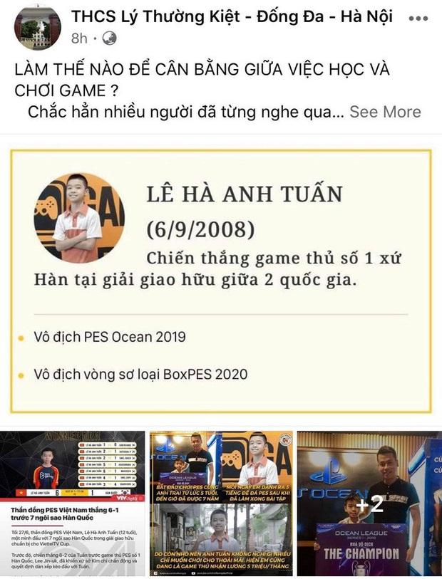 Chơi game khét lẹt, thần đồng PES 12 tuổi còn được giáo viên chủ nhiệm khen ngợi con ngoan trò giỏi, vinh danh trên MXH của trường - Ảnh 3.