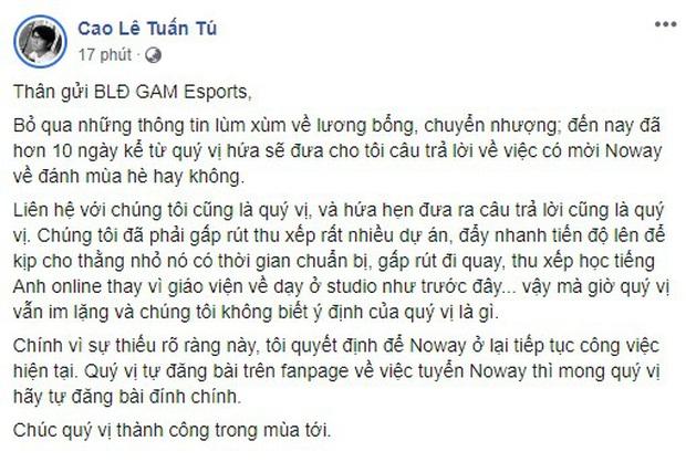 Nóng: Cựu HLV Tinikun lại tiết lộ GAM Esports nợ lương tuyển thủ, lần này nạn nhân là Kiaya - Ảnh 4.