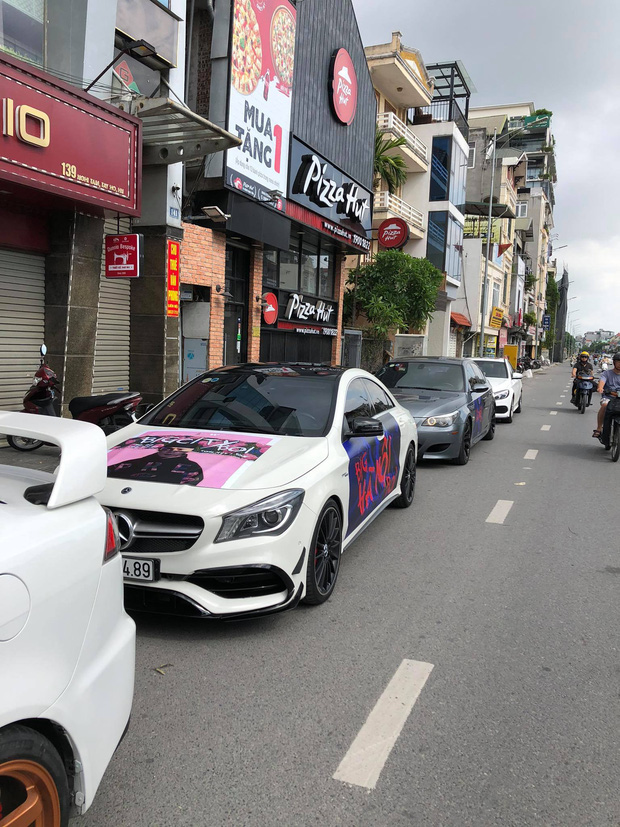 Fan Binz chơi lớn quá: Phủ kín poster lên hàng loạt siêu xe lượn quanh Hà Nội hâm nóng trước thềm ra MV - Ảnh 10.