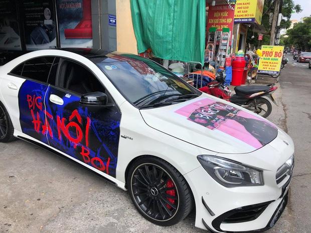 Fan Binz chơi lớn quá: Phủ kín poster lên hàng loạt siêu xe lượn quanh Hà Nội hâm nóng trước thềm ra MV - Ảnh 7.