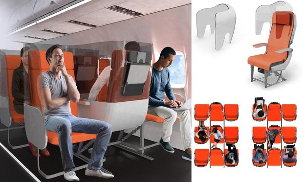 Cận cảnh khoang máy bay hạng phổ thông trong tương lai: Du khách có thể thoải mái nằm dài với thiết kế ghế ngồi hoàn toàn mới - Ảnh 1.