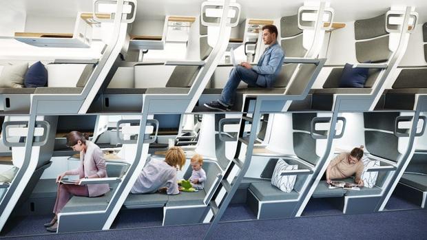 Cận cảnh khoang máy bay hạng phổ thông trong tương lai: Du khách có thể thoải mái nằm dài với thiết kế ghế ngồi hoàn toàn mới - Ảnh 2.