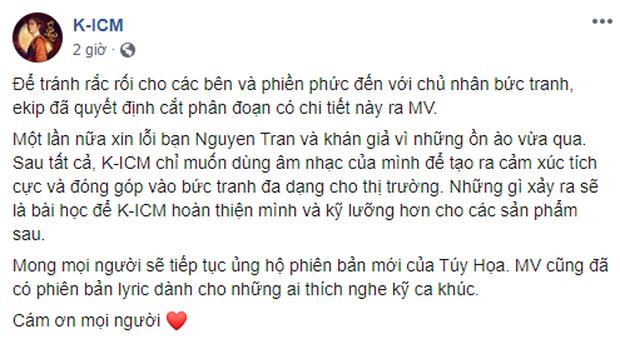 K-ICM phải sửa lại MV sau loạt lùm xùm, Hoa hậu Tường Linh khẳng định sẽ không ai dám đóng MV với Khánh nữa vì fan K-ICM quá toxic? - Ảnh 5.