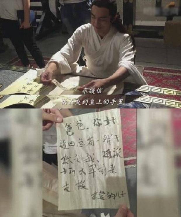Cười mệt với hậu trường cảnh viết thư pháp của dàn sao Cbiz: Trùm vẽ bậy gọi tên Lâm Canh Tân! - Ảnh 2.