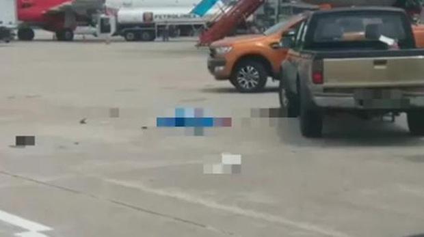 Xe bán tải tông tử vong nữ nhân viên dọn vệ sinh sân bay Nội Bài - Ảnh 1.