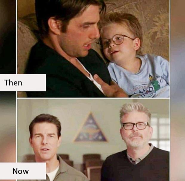 Sự thật đằng sau bức ảnh gây sốc Tom Cruise là ma cà rồng hack tuổi đỉnh cao, mặc kệ sao nhí biến thành lão ông - Ảnh 2.