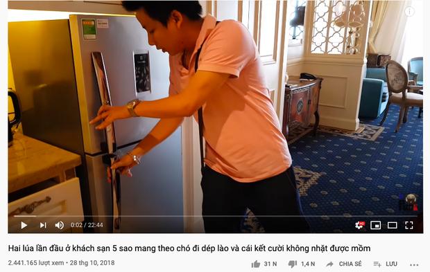 Đoạn clip review khách sạn 5 sao của Khoa Pug từ 2 năm trước bỗng dưng bị dân mạng đào lại chỉ vì cú lỡ tay... làm hư tủ lạnh  - Ảnh 5.