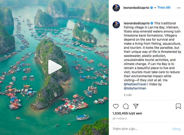 """Có gì hay ở vịnh Lan Hạ? - Đảo ngọc Việt Nam được tài tử Leonardo DiCaprio """"lăng xê"""" trên Instagram - Ảnh 1."""